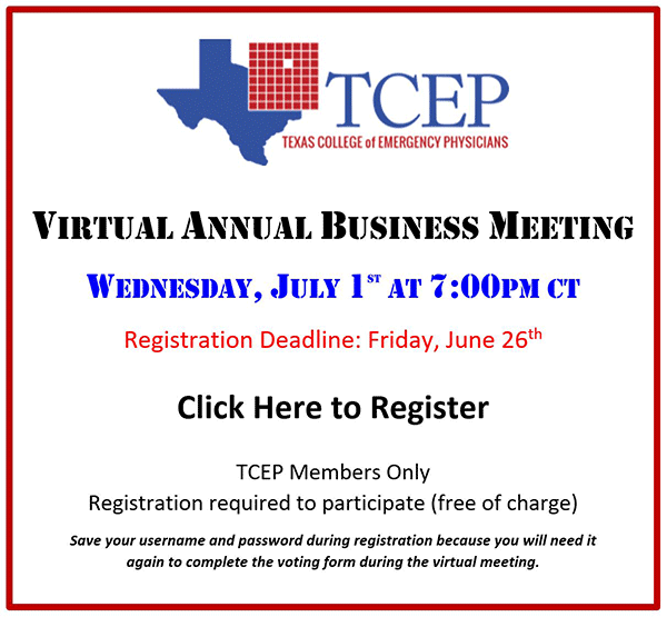 TCEP 2020 Annual Business Meeting